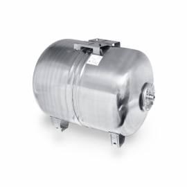 Edelstahl Ausdehnungsgefäß 80l INOX für Hauswasserwerk horiz. für Jetpumpe Membranausdehnungsgefäß - Bild vergrößern